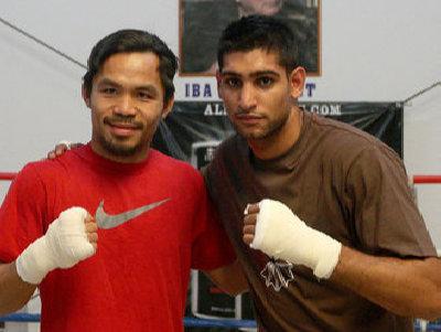 Amir Khan dan Manny Pacquiao Membahas Pertarungan Potensial