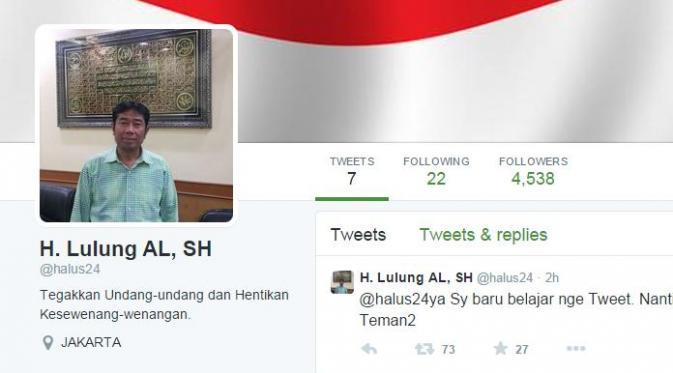 Baru Bikin Akun Twitter, Haji Lulung Diikuti 4.500 Followers