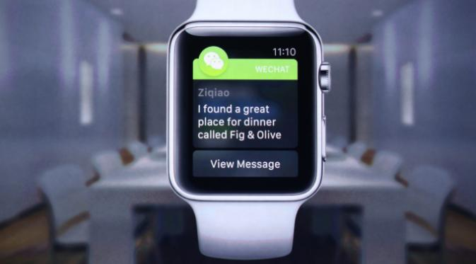 Bersama Facebook & Twitter, WeChat Hadir di Apple Watch