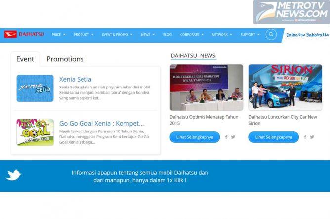 Daihatsu Refresh Web Resminya jadi Lebih Segar
