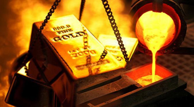 Harga Emas Terjun Bebas di Akhir Pekan