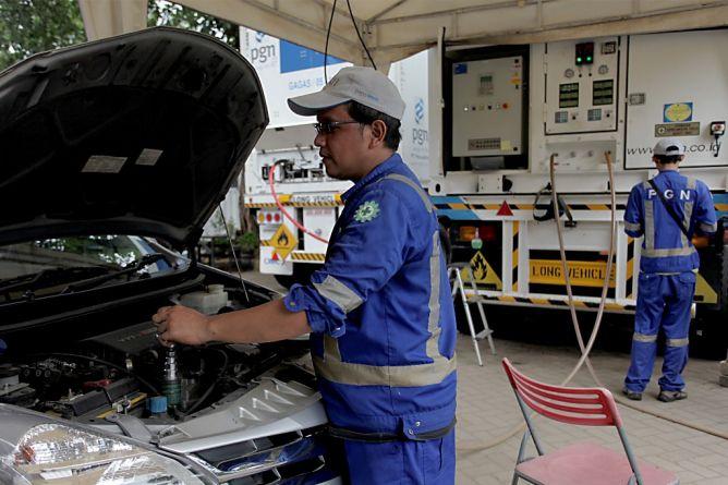 Kementerian ESDM Anggarkan Rp1,6 Triliun untuk 22 SPBG