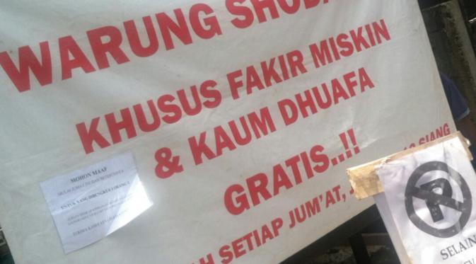 Melihat Warung Sedekah Khusus Fakir Miskin di Yogyakarta