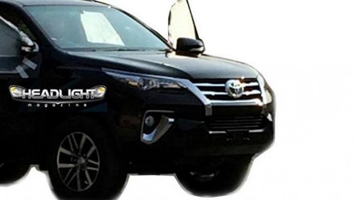 Moncong Toyota Fortuner Terbaru Sepintas Mirip Lexus RX
