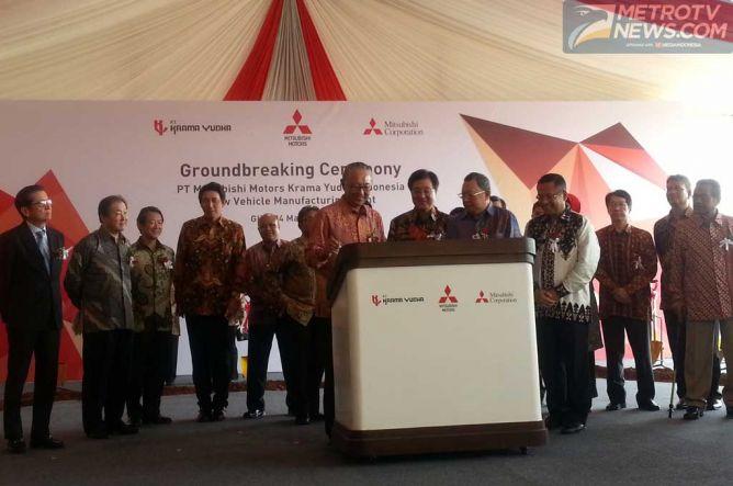 Saleh Husin Hadiri Peletakan Batu Pertama Pabrik Mitsubishi di Cikarang