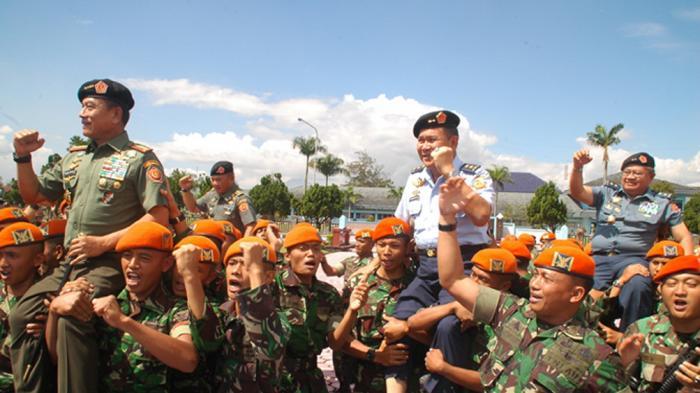 Sidak Panglima TNI, Prajurit Korps Paskhas Siap dalam 13 Menit