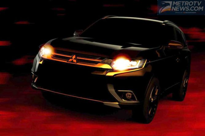 Tampang Mitsubishi Outlander 2016, Terkuak Jelang NYAS 2015