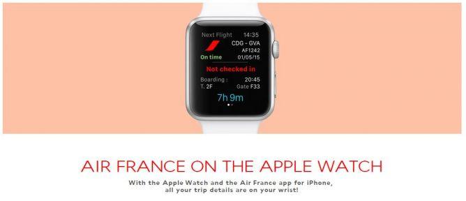Air France Luncurkan Aplikasi untuk Apple Watch