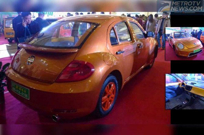 Disorientasi Volkswagen Beetle Berlogo Nissan dan Volvo di Tiongkok
