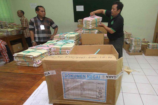 Ini Alur Pendistribusian Naskah UN SMP di Jakarta