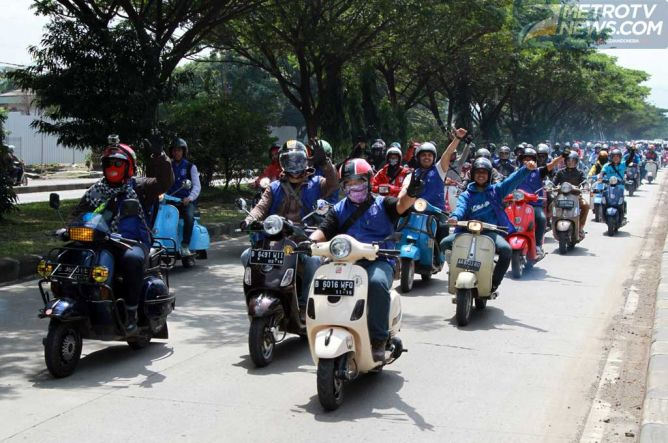 Photo of Kutu Vespa KampanyeSafety Riding di Bandung