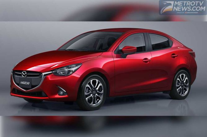 Mazda2 Sedan SkyActiv Petrol Duduk Manis di BIMS 2015