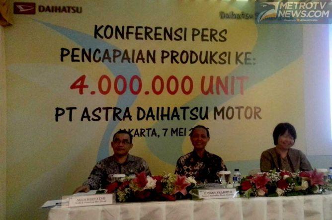 Daihatsu Produksi 4 Juta Unit Mobil, Termasuk Toyota