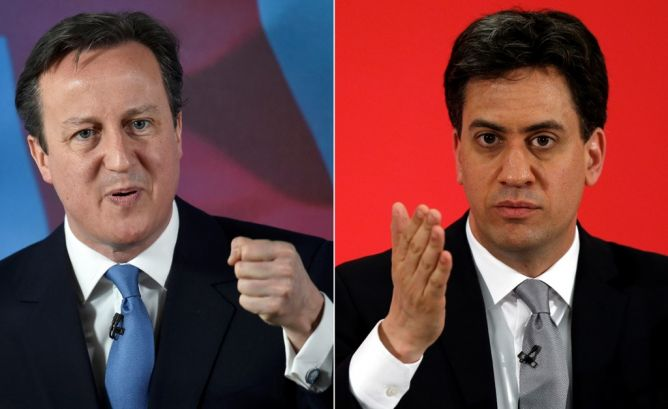 Persaingan Ketat Cameron dan Miliband dalam Pemilu Inggris