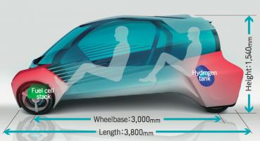 Toyota FCV Plus, Bahan Bakar Hidrogen Dan 4WD