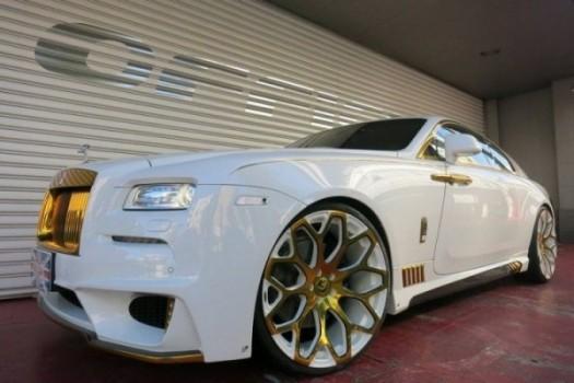 Modifikasi Mobil Mewah Berlapis Emas