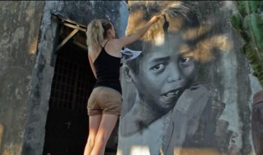 Street Artist Julia Volchkova Datang ke Medan Mau Kreasikan Kebudayaan Sumut