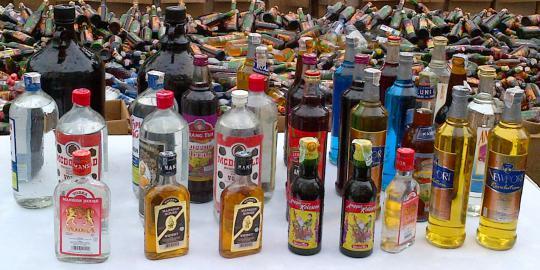 Polres Jakpus Sita 636 Botol Miras