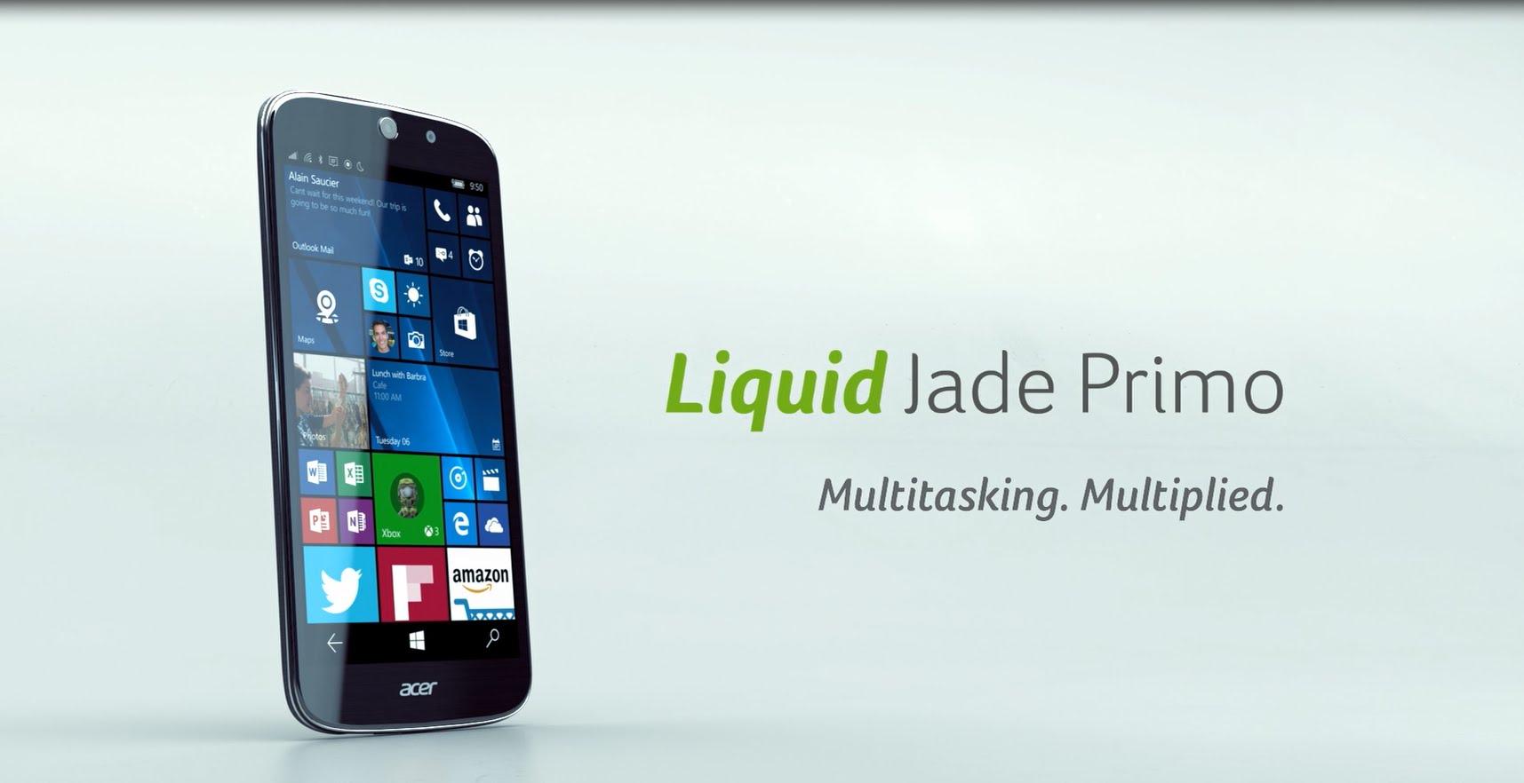 Acer Liquid Jade Primo Usung OS Windows 10 Mobile 1