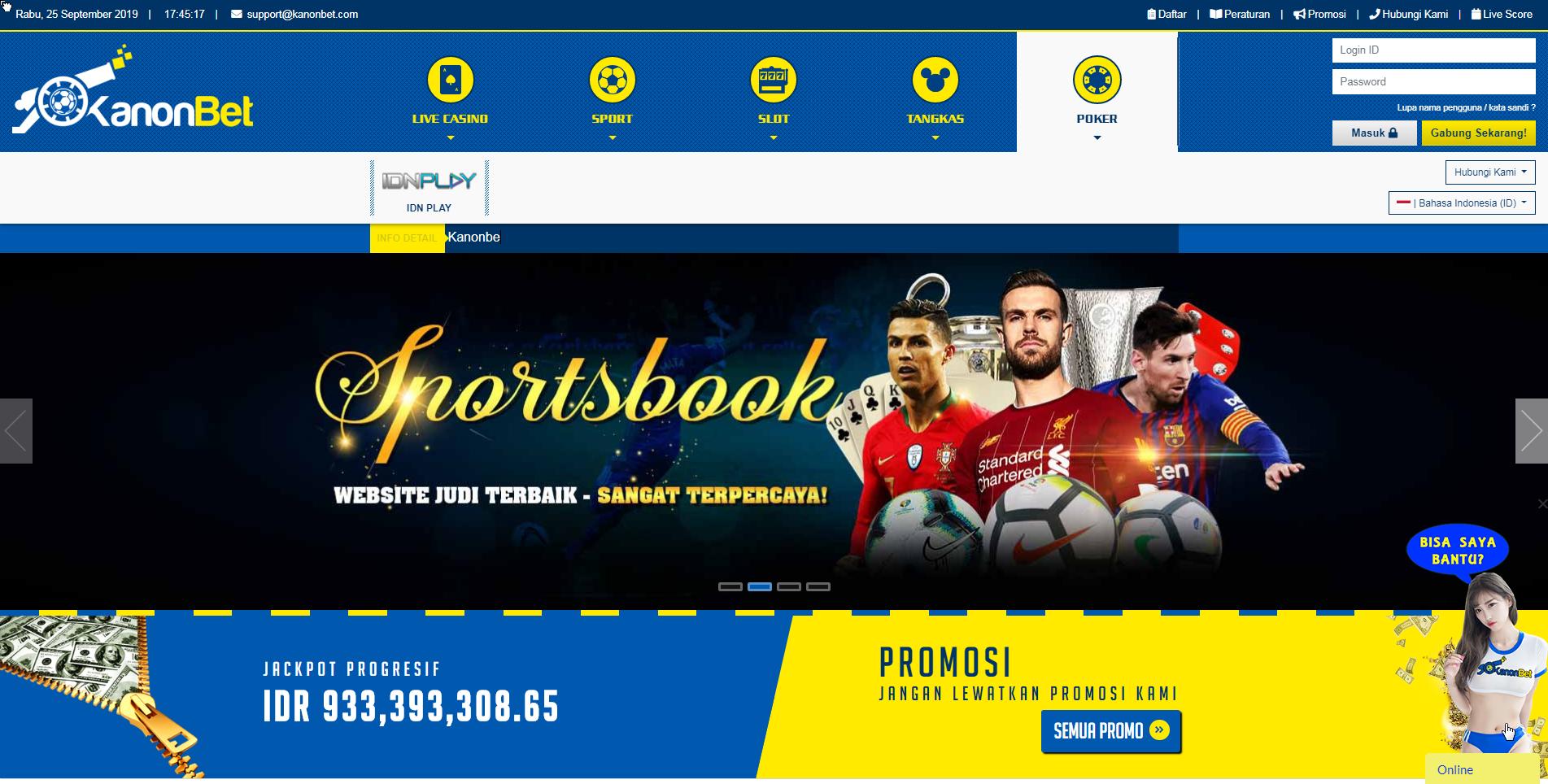 Situs Agen Judi Online Kanonbet Terbaik Dan Terpecaya Di Indonesia