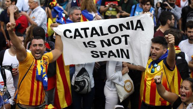 Para Pemimpin Catalunya vs Spanyol